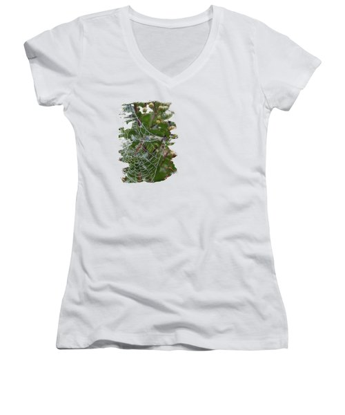 String Of Pearls Women's V-Neck T-Shirt (Junior Cut) by Anita Faye