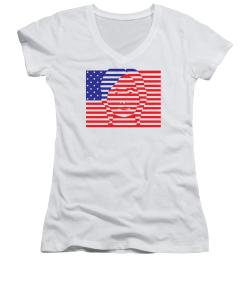 Strong Women's V-Neck T-Shirt (Junior Cut) by Andi Surya Nusa