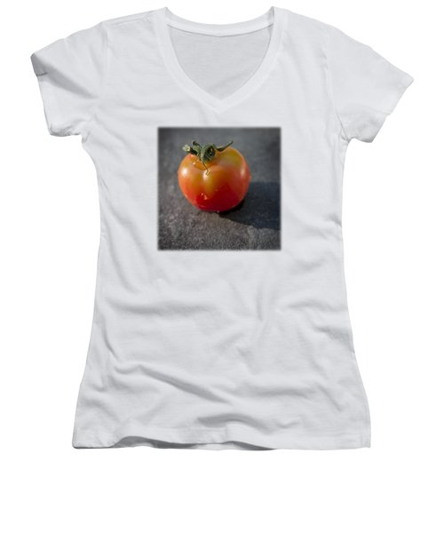 Sweet 100 T Women's V-Neck T-Shirt (Junior Cut) by David Stone