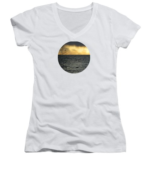The Wonder Of It All Women's V-Neck T-Shirt (Junior Cut) by Mary Wolf