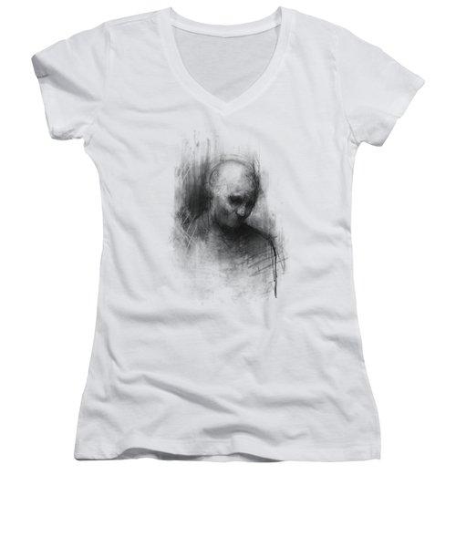 Thinker II Women's V-Neck T-Shirt (Junior Cut) by Bruno M Carlos