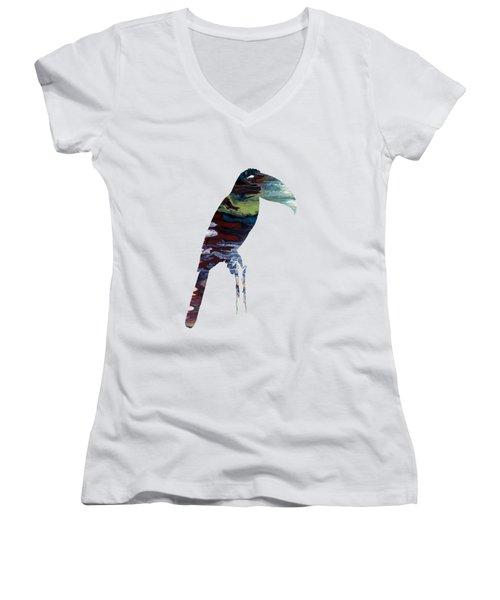 Toucan Women's V-Neck T-Shirt (Junior Cut) by Mordax Furittus