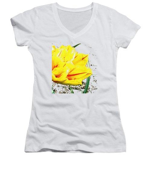 Tulip 3 Women's V-Neck T-Shirt (Junior Cut) by Vesna Martinjak
