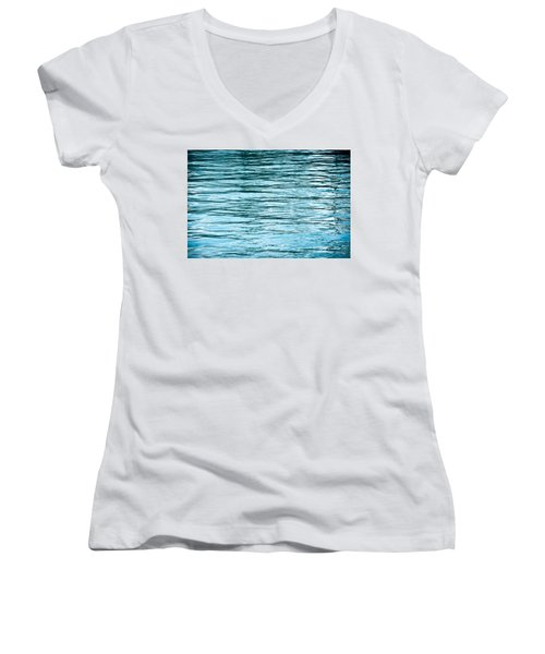 Water Flow Women's V-Neck T-Shirt (Junior Cut) by Steve Gadomski