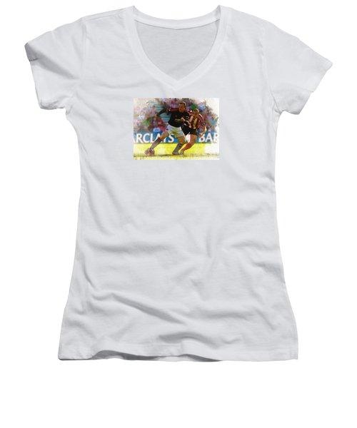 Wayne Rooney Is Marshalled Women's V-Neck T-Shirt (Junior Cut) by Don Kuing