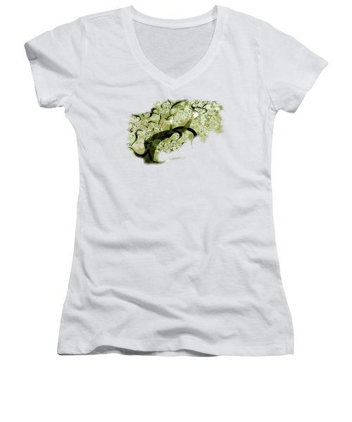 Wishing Tree Women's V-Neck T-Shirt (Junior Cut) by Anastasiya Malakhova
