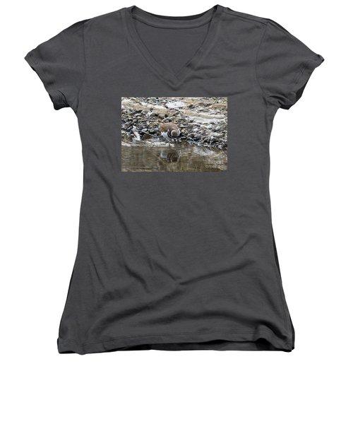Mirror Mirror Women's V-Neck T-Shirt (Junior Cut) by Mike Dawson