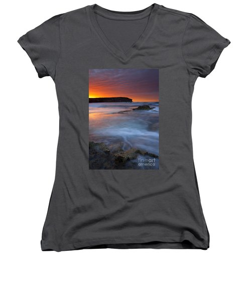 Pennington Dawn Women's V-Neck T-Shirt (Junior Cut) by Mike  Dawson