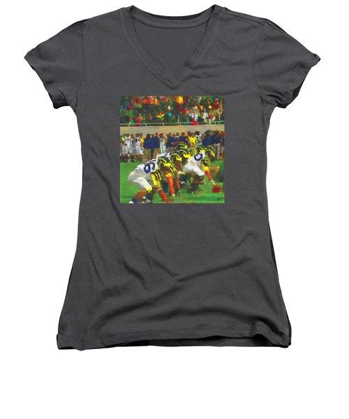 The War Women's V-Neck T-Shirt (Junior Cut) by John Farr