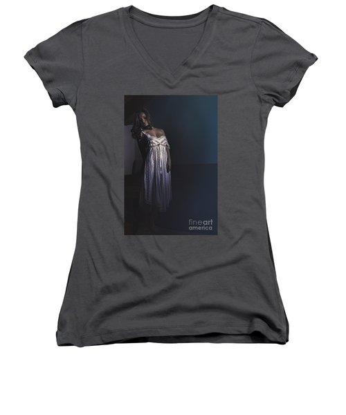 Clara Women's V-Neck T-Shirt (Junior Cut) by Traven Milovich