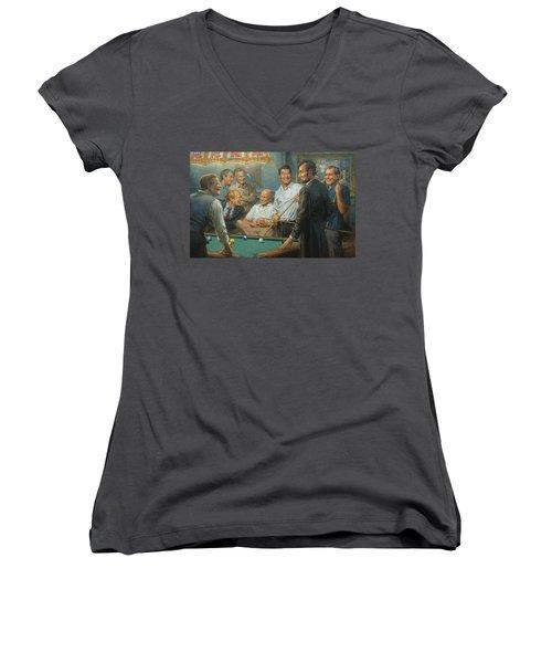Callin The Blue Women's V-Neck T-Shirt (Junior Cut) by Andy Thomas