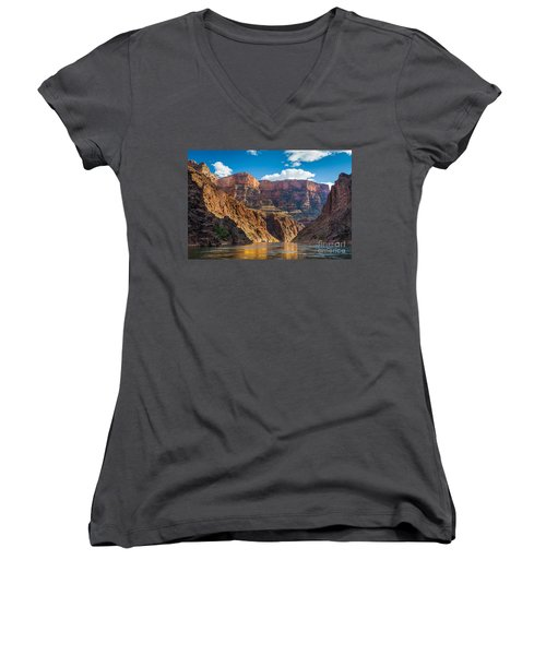 Journey Through The Grand Canyon Women's V-Neck T-Shirt (Junior Cut) by Inge Johnsson