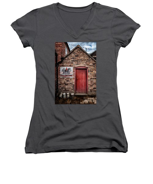 Once Upon A Time Women's V-Neck T-Shirt (Junior Cut) by Adrian Evans