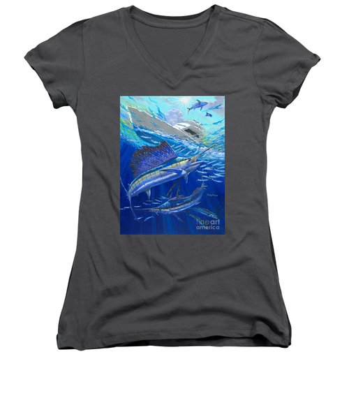 Out Of Sight Women's V-Neck T-Shirt (Junior Cut) by Carey Chen