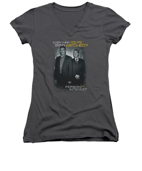 Person Of Interest - Watched Women's V-Neck T-Shirt (Junior Cut) by Brand A