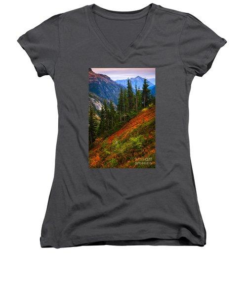Sahale Arm Women's V-Neck T-Shirt (Junior Cut) by Inge Johnsson