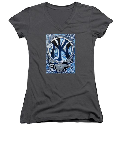 Steal Your Empire Women's V-Neck T-Shirt (Junior Cut) by Kevin J Cooper Artwork