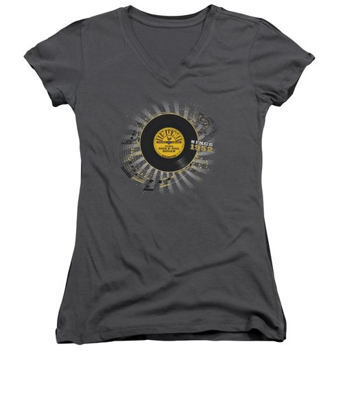Sun - Established Women's V-Neck T-Shirt (Junior Cut) by Brand A