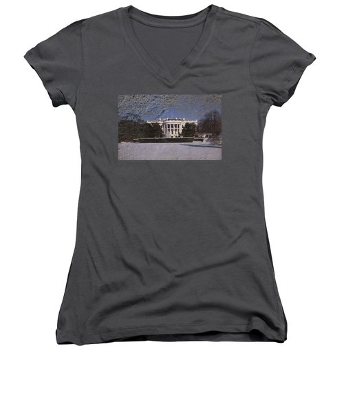 The Peoples House Women's V-Neck T-Shirt (Junior Cut) by Skip Willits