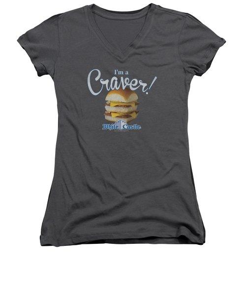 White Castle - Craver Women's V-Neck T-Shirt (Junior Cut) by Brand A