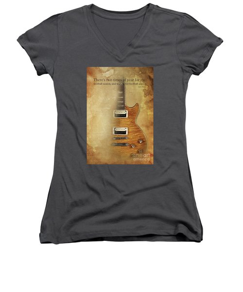 Darius Rucker Inspirational Quote, Electric Guitar Poster For Music Lovers And Musicians Women's V-Neck T-Shirt (Junior Cut) by Pablo Franchi