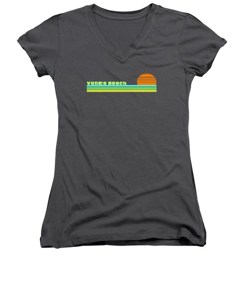 Venice Beach Women's V-Neck T-Shirt (Junior Cut) by Brian Edward