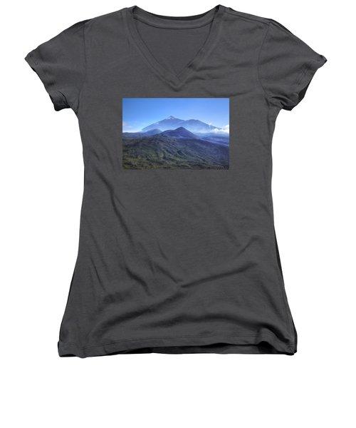 Tenerife - Mount Teide Women's V-Neck T-Shirt (Junior Cut) by Joana Kruse