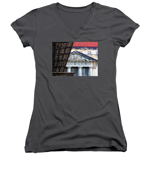 African American History And Culture 5 Women's V-Neck T-Shirt (Junior Cut) by Randall Weidner