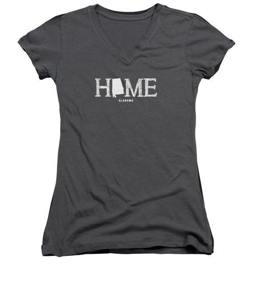 Al Home Women's V-Neck T-Shirt (Junior Cut) by Nancy Ingersoll