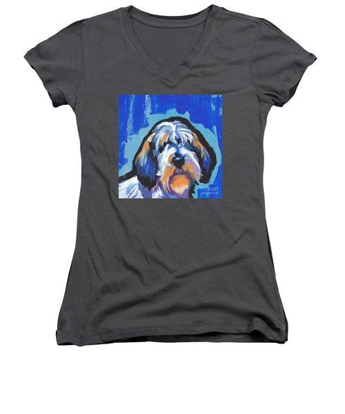 All Rhymes Pbgv Women's V-Neck T-Shirt (Junior Cut) by Lea S