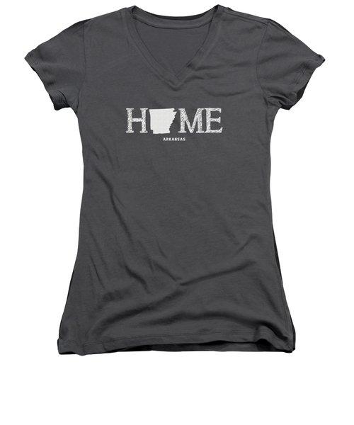 Ar Home Women's V-Neck T-Shirt (Junior Cut) by Nancy Ingersoll