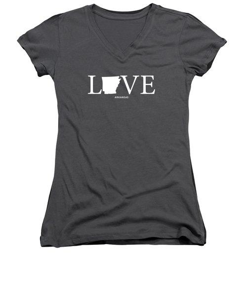 Ar Love Women's V-Neck T-Shirt (Junior Cut) by Nancy Ingersoll