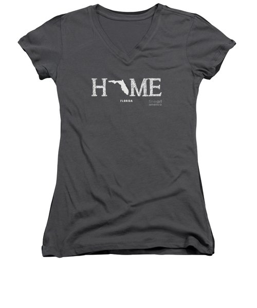 Fl Home Women's V-Neck T-Shirt (Junior Cut) by Nancy Ingersoll