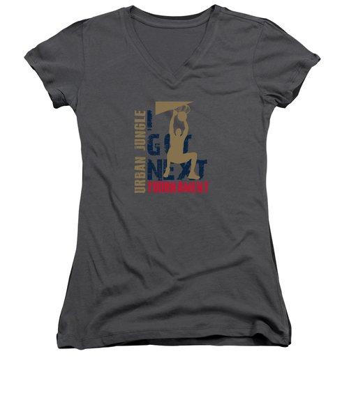 Basketball I Got Next 4 Women's V-Neck T-Shirt (Junior Cut) by Joe Hamilton