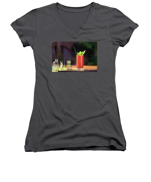 Bloody Mary Forever Women's V-Neck T-Shirt (Junior Cut) by Ekaterina Molchanova