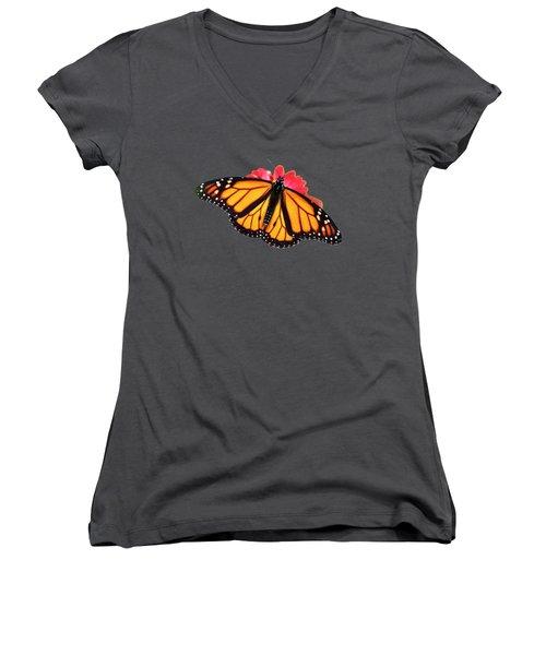 Butterfly Pattern Women's V-Neck T-Shirt (Junior Cut) by Christina Rollo