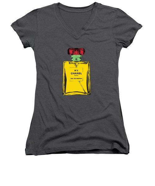 Chnel 2 Women's V-Neck T-Shirt (Junior Cut) by Mark Ashkenazi
