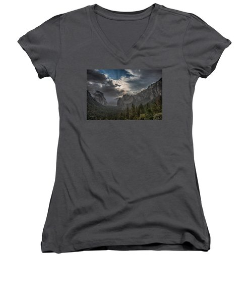Clouds And Light Women's V-Neck T-Shirt (Junior Cut) by Bill Roberts