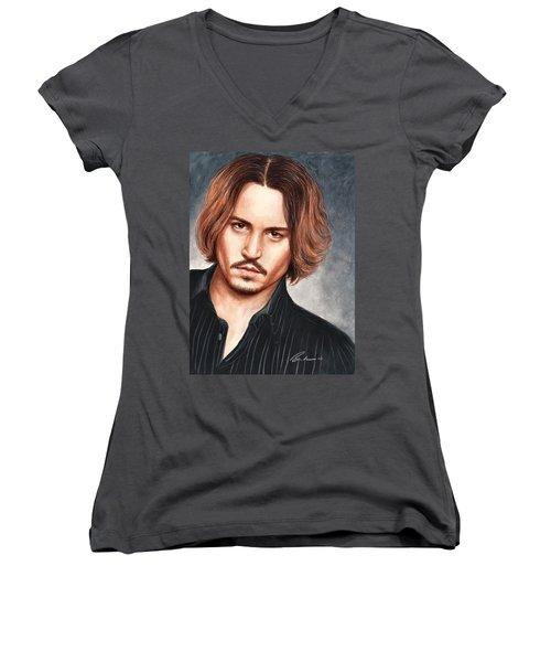 Depp Women's V-Neck T-Shirt (Junior Cut) by Bruce Lennon