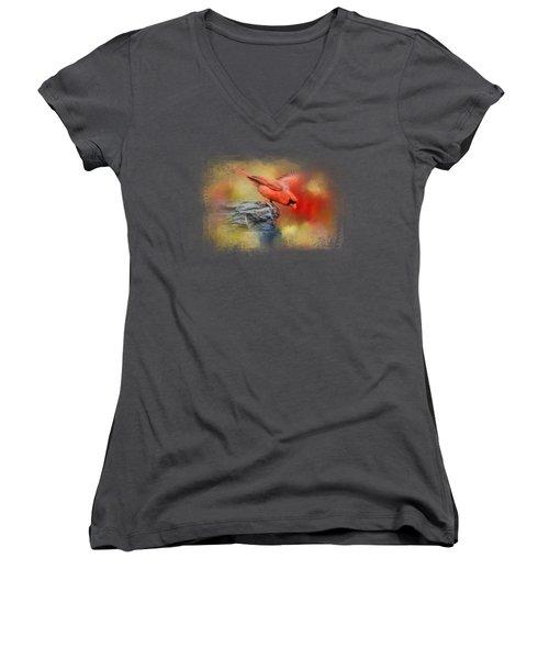 Dive In Women's V-Neck T-Shirt (Junior Cut) by Jai Johnson