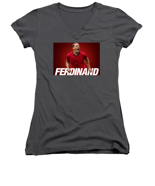 Ferdinand Women's V-Neck T-Shirt (Junior Cut) by Semih Yurdabak