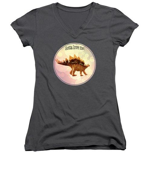 Gotta Love Me Women's V-Neck T-Shirt (Junior Cut) by Art OLena