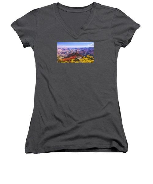 Grand Arizona Women's V-Neck T-Shirt (Junior Cut) by Chad Dutson