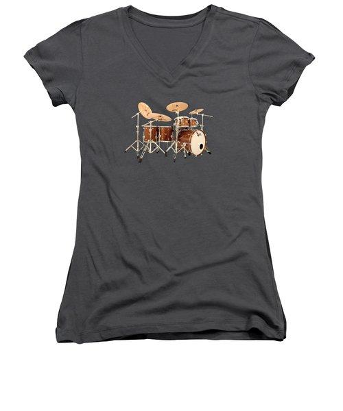 Hendrix  Drums Women's V-Neck T-Shirt (Junior Cut) by Shavit Mason