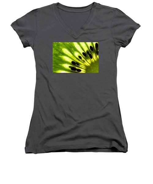 Kiwi Women's V-Neck T-Shirt (Junior Cut) by Gert Lavsen