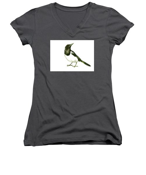 Magpie Women's V-Neck T-Shirt (Junior Cut) by Suren Nersisyan