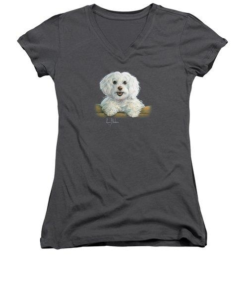 Mimi Women's V-Neck T-Shirt (Junior Cut) by Lucie Bilodeau