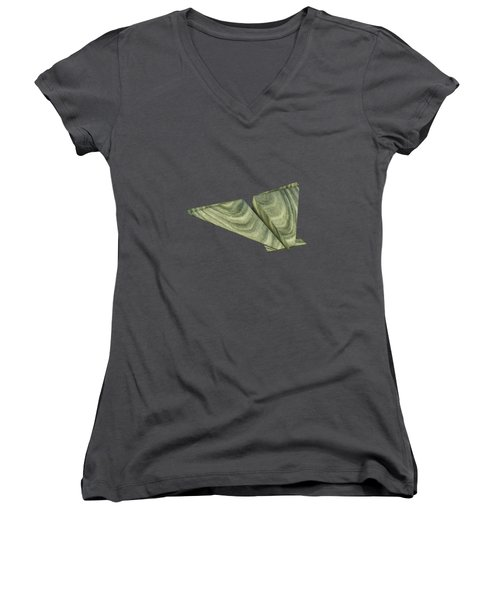 Paper Airplanes Of Wood 19 Women's V-Neck T-Shirt (Junior Cut) by YoPedro