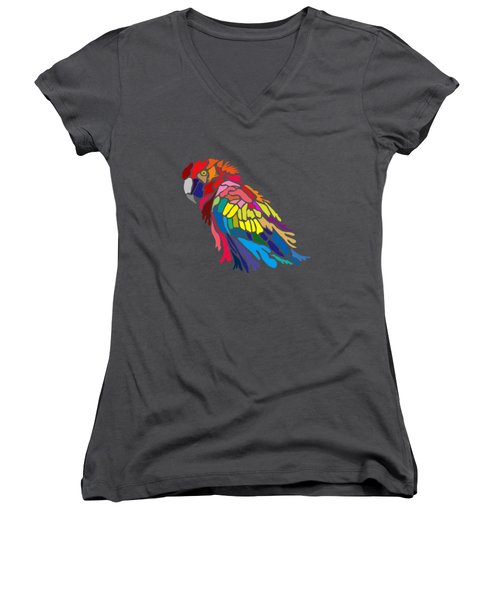Parrot Beauty Women's V-Neck T-Shirt (Junior Cut) by Anthony Mwangi