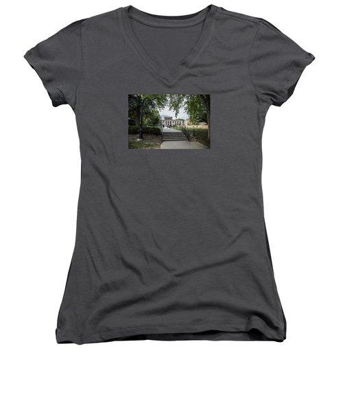 Penn State Library  Women's V-Neck T-Shirt (Junior Cut) by John McGraw